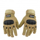 OUMILY Outdoor Tactical Full-Finger Gloves - Khaki (Size L / Pair)