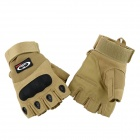 OUMILY Outdoor Tactical Half-finger Gloves - Khaki (Size L / Pair)