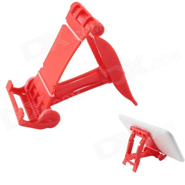 Universal Plastic Stand Holder for 4~10 Tablet PC - Red universal plastic stand holder for 4 10 tablet pc red