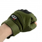 OUMILY Outdoor Tactical Half-finger Gloves - Black + Army Green (Size L / Pair)