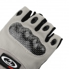 OUMILY Outdoor Tactical Half-Finger Gloves - Gray(Size L / Pair)