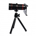 KHAMA TELE5 4~12X Zoom Aluminum Alloy Lens + Back Case + Tripod Set for IPHONE 5 / 5S - Black