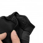 OUMILY Outdoor Tactical Full-finger Gloves - Black + Dark Grey (Size L / Pair)