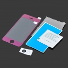 ROCS Colorful Mirror Tempered Glass Screen Protector for IPHONE 5 / 5S / 5C - Purple