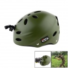 OUMILY Outdoor Paratrooper Helmet w/ Mounting Bracket for GoPro & Sony Camera - Army Green