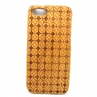 Loop Pattern Detachable Protective Wood Back Case for IPHONE 5 / 5S - Wood