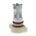 HJ-025 H16 8W 800lm 7 x SMD 2323 LED White Light Car Light w / Convex Lens - (12 ~ 30V)