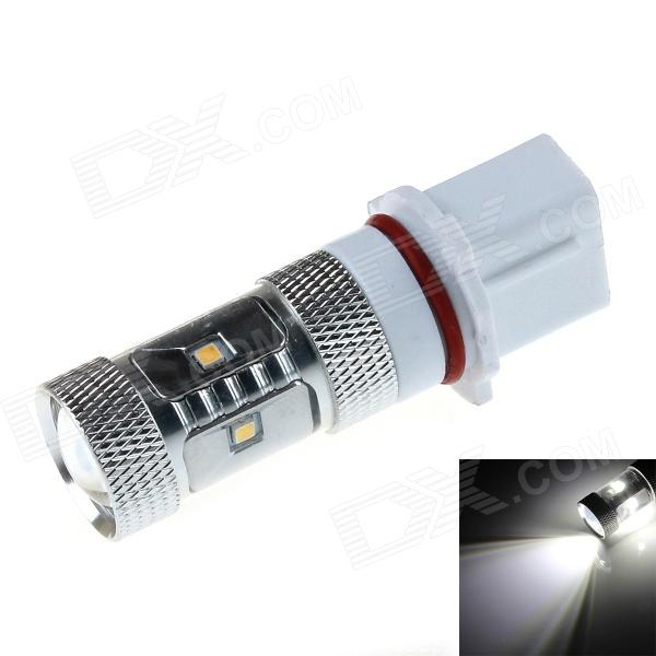 HJ-027 P13W 8W 800lm 7 x SMD 2323 LED White Light Car Light w/ Convex Lens - (12~30V)