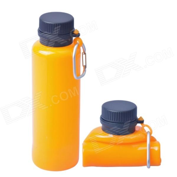 AceCamp 1543 Multipurpose Squeezable Silicone Water Bottle - Orange + Black