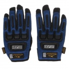 Mad Bike MAD-11 Bike Professional Full-Finger Racing Gloves - Blue + Black (Size-L)