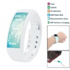 3D Fashionable Calorie Pedometer USB Flash Disk Multifunctional Sport Smart Watch - White