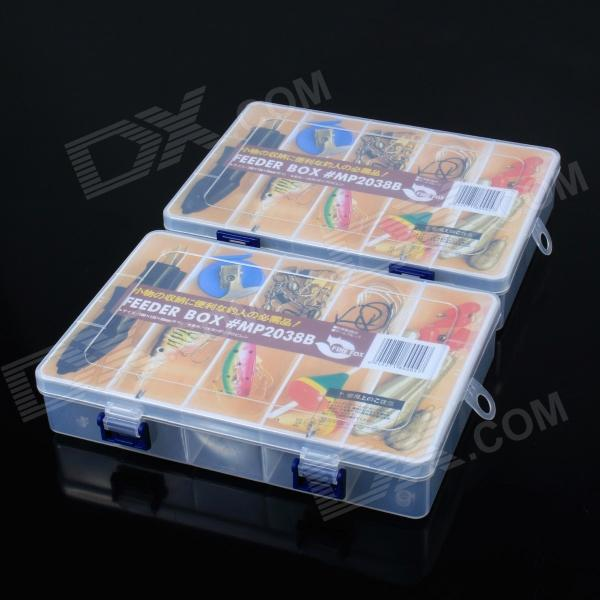 10-Compartment ABS Storage Box Case - Translucent White (2 PCS) metal crafts 15 20 t198