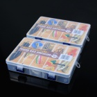 10-Compartment ABS Storage Box Case - Translucent White (2 PCS)