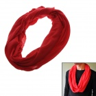 Stylish Multifunctional Outdoor Polyester + Cotton Scarf - Red