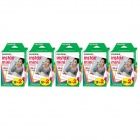 Genuine Fujifilm INSTAX MINI Twin Pack Instant Film x 5 box (10 sheets per pack x 2 packs per box)