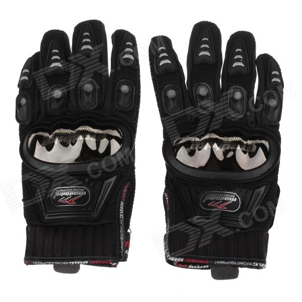 Mad Bike MAD-01S Professional Full-Finger Racing Gloves - Red + Black (Size-L)