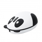 Panda Style 2.4G Wireless USB 2.0 Optical Rechargeable Mouse - White + Black