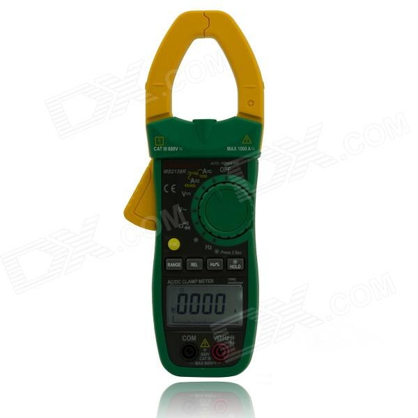 MASTECH MS2138R TRUE RMS AC / DC Current / Capacitance / Hz Clamp Meter - Black + Green (0~1000A) mastech ms2015b 6600 counts 1000a ac clamp meters w capacitance frequency temperature