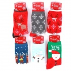 Fashion Cute  Elk Snowflake Couple Socks (6 Pairs)