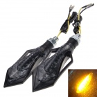 Waterproof Sword-shape DIY 1W 112lm 9-LED Motorcycle Yellow Light Steering Lamp - (12V / 2 PCS)