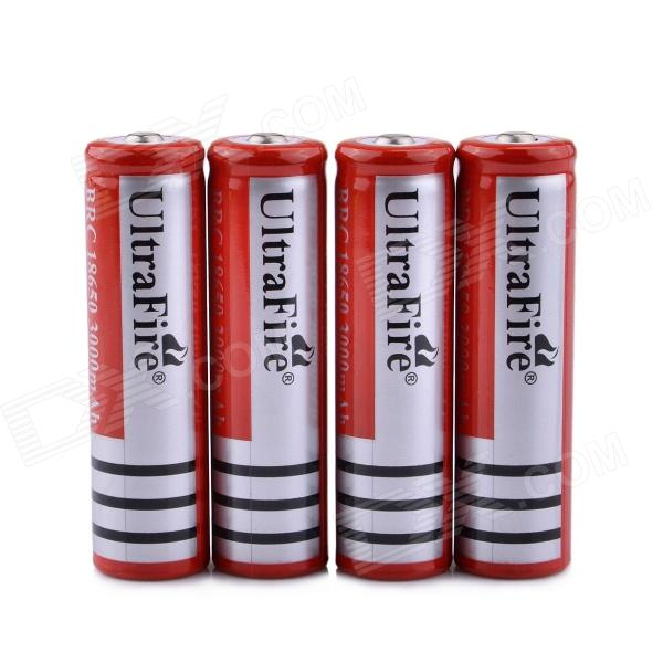 UltraFire ZS-03 18650 3.7V 400mAh Lithium Rechargeable Batteries - Red + Black (4 PCS) ultrafire protected 18650 3 7v 2400mah lithium batteries 2 pack grey