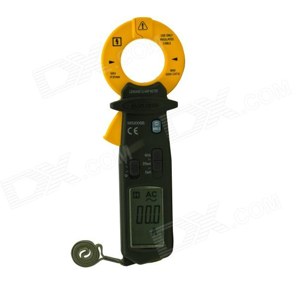 MASTECH MS2006B High Sensitivity AC Leakage Clamp Meter 0.001mA Resolution - Black + Yellow acosun md916 lcd display data hold digital paper moisture meter