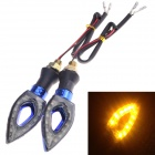 Waterproof DIY 1W 112lm 9-LED Motorcycle Yellow Light Steering Lamp - (12V / 2 PCS)