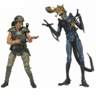 Geniune NECA Alien/ 7 inch Action Figure Series: Dwayne Hicks vs Blue Warrior (Completed) NE51396