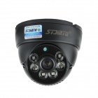 "Stjiatu ST-8600C 1/4"" CMOS 700-Line Ceiling CCTV Camera w/ 6-IR LED Night Vision - Black"