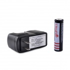 UltraFire ZS-07 18650 3.7V 1000mAh Lithium Rechargeable Battery w/ US Plug Charger - Black