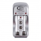 BTY 812A 9V / 2 x AA / AAA Batteries AC Charger - White (AC 100~240V / EU Plug)
