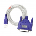 YXB-16 USB 2.0 Male to Parallel Printer Connection Cable - Purple (150cm)