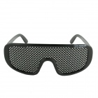 OUMILY Eyesight Vision Improve Plastic Frame Pinhole Glasses Eyeglasses - Black