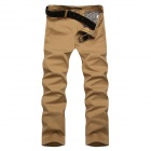 Slim Casual Men's Cotton Pants - Khaki (Size-33)