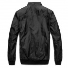 JK0089 Men's Slim Casual Jacket - Black (Size-XL)