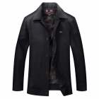 Stylish Spring Leisure Men's Jacket - Black (Size-XXXL)