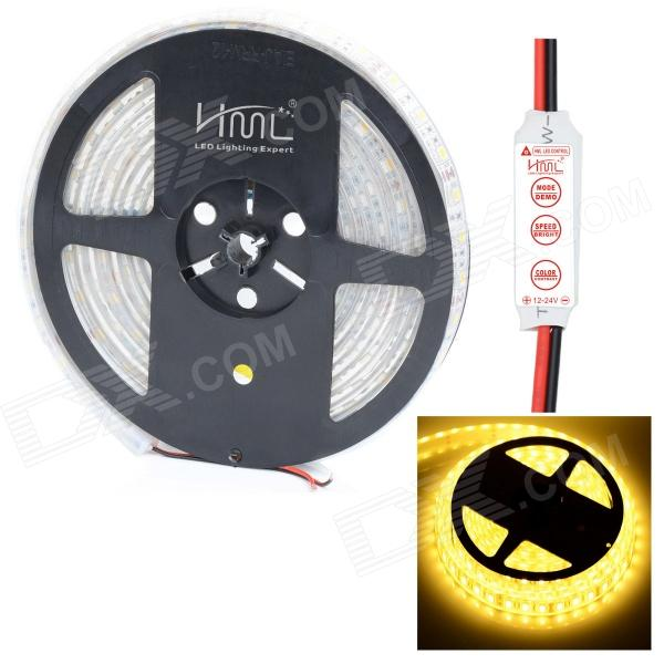 HML IP68 Waterproof 72W 6000lm 300-SMD 5050 LED Warm White Light LED Strip w/ Mini Controller цена