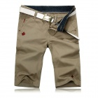 Fashionable Men's Cotton Slim Fit Leisure Shorts / Five Pants - Khaki (Size-34)