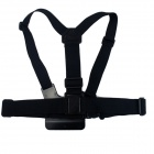 "BZ BZ26C Freedom Elastic Chest Belt for Gopro Hero 4/ 3 / 3+ / 2 / SJ4000 / 1/4""Camera - Black"