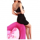 Stylish Package Buttocks Sequined Dress - Black (Free size)