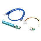 PCIE 1x to 16x Extension Cable - Green + Blue + Multi-Colored