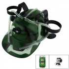 OUMILY Multifunctional Beer Cap for GoPro Hero 4 / 2 / 3 Camera - Army Green Camouflage