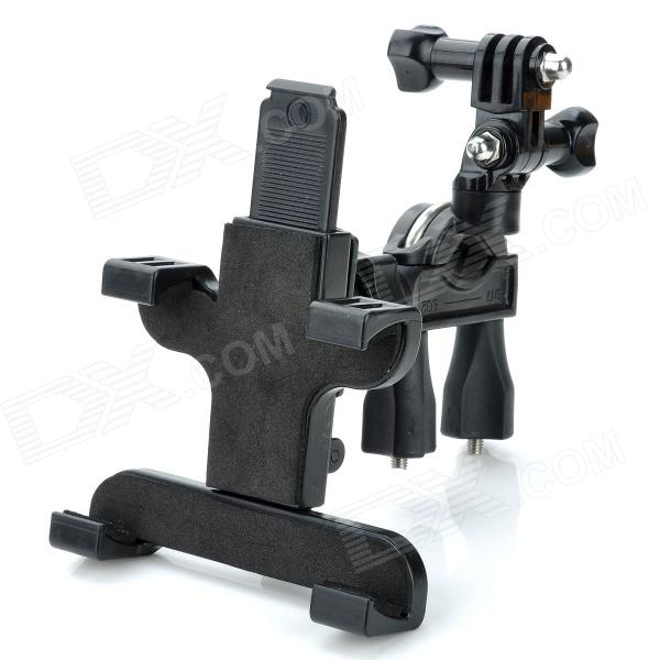 "TP02 Adjustable Plastic Bicycle Stand Holder for 7"" Tablet PC and GoPro Hero 2 / 3 / 3+ - Black"