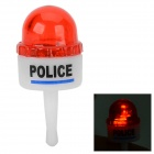 Warning Light Style LED 3.5mm Anti-dust Plug for IPHONE + More - White + Red