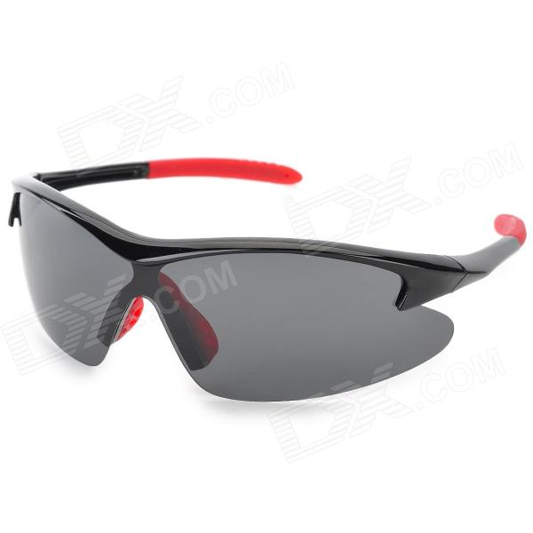 CARSHIRO 9191 Men's Stylish UV400 Polarized Goggles Sunglasses - Black + Red carshiro 9191 men s stylish uv400 polarized goggles sunglasses black red