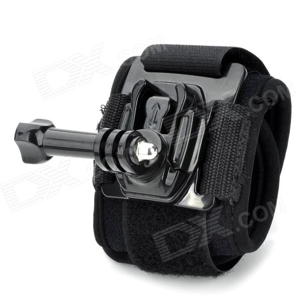 Arm Bands Wrist Strap w/ Mount Base + Long Screw for Gopro Hero 4/ 3+ / 3 / 2 / 1 - Black