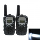 BELLSOUTH T-388 Handheld 409MHz-410MHz 22-CH Walkie Talkie / Interphone - Black (2 PCS / 4 x AAA)