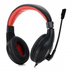 HYUNDAI cjc-818 Headband 3.5mm Wired Earphone - Dark red + Black (Cable-200cm)