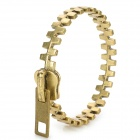 Zipper Style Punk Zinc Alloy Bracelet - Antique Brass