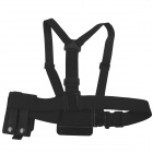OUMILY Adjustable Chest Strap w/ Cellphone Pouch for Gopro Hero 4/ 1 / 2 / 3 / 3+ - Black